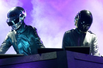 INDIO, CA - APRIL 29:  Daft Punk performs at the Coachella Music Fesival on April 29, 2006 in Indio, California. (Photo by Karl Walter/Getty Images)