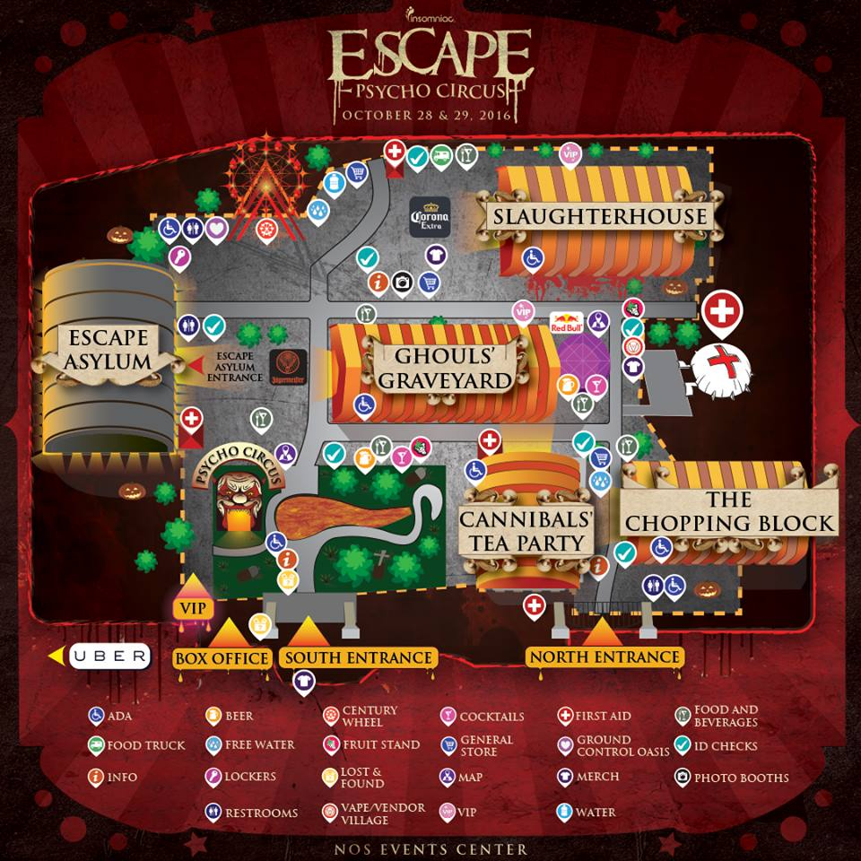 escape psycho circus 2016 set times festival map have arrived gde