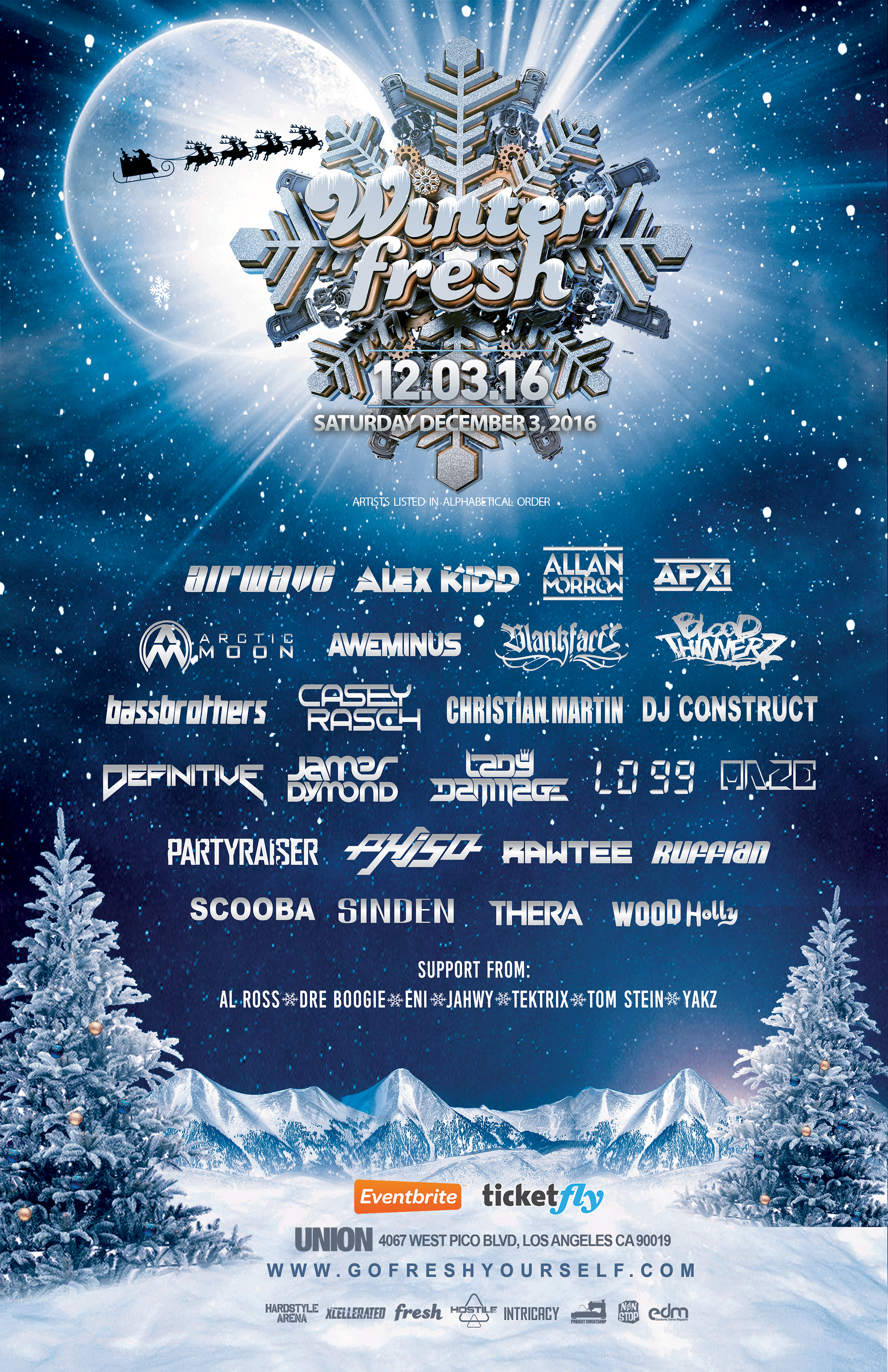 WinterFresh 2016 Lineup