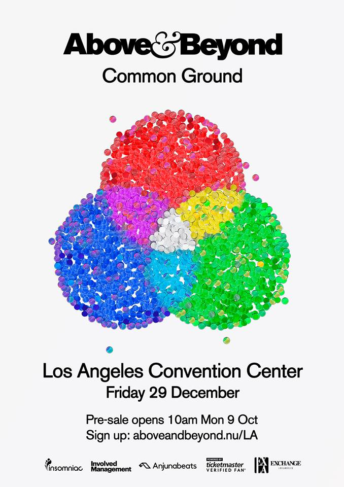 Tickets above beyond at los angeles convention center gde for Above and beyond