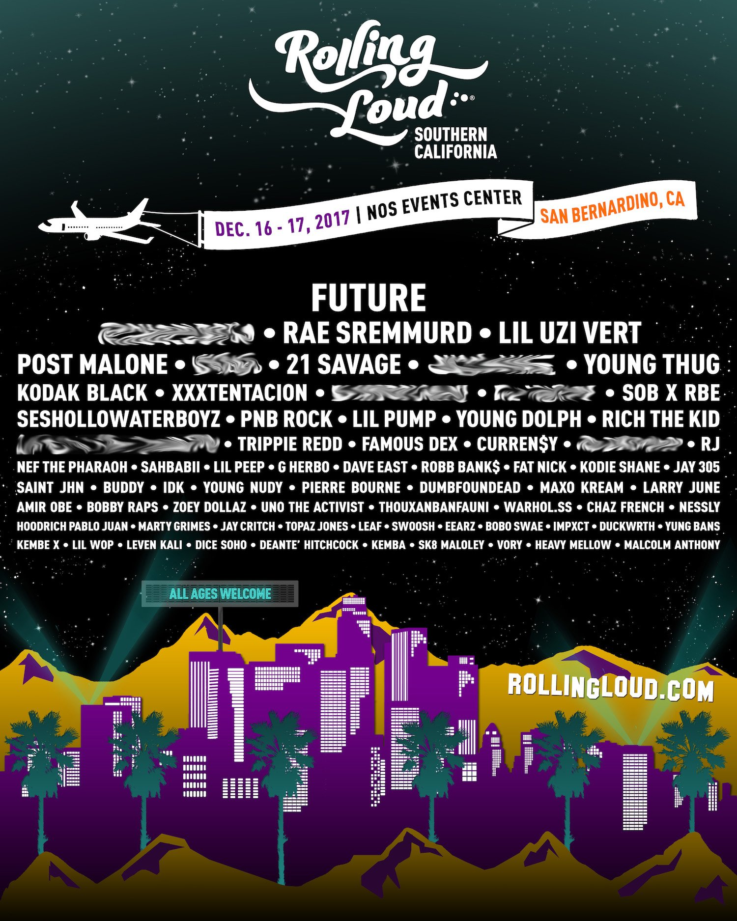 Post Malone Stage Fall: Rolling Loud SoCal 2017 Hip-Hop Festival Lineup Announced