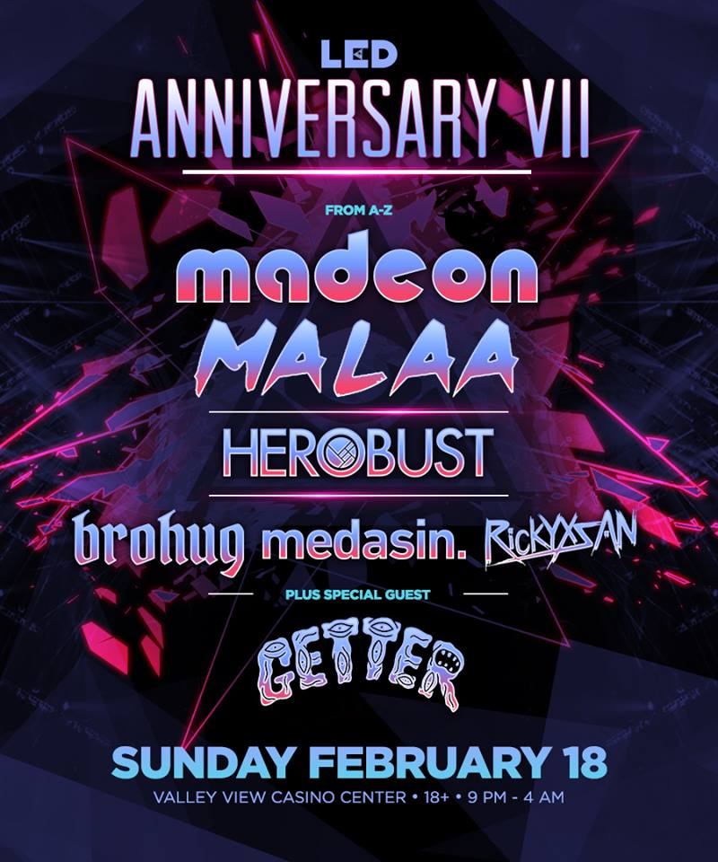 tickets led anniversary 2018 madeon malaa amp getter to