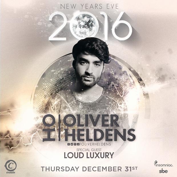 Oliver Heldens NYE 2016 Tickets Create Nightclub