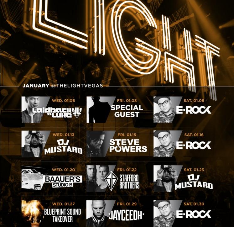 The Light Vegas Nightclub Events - January 2016 Lineup
