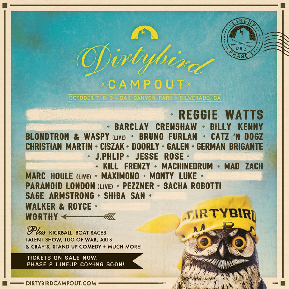 Dirtybird Campout 2016 Phase 1 Lineup