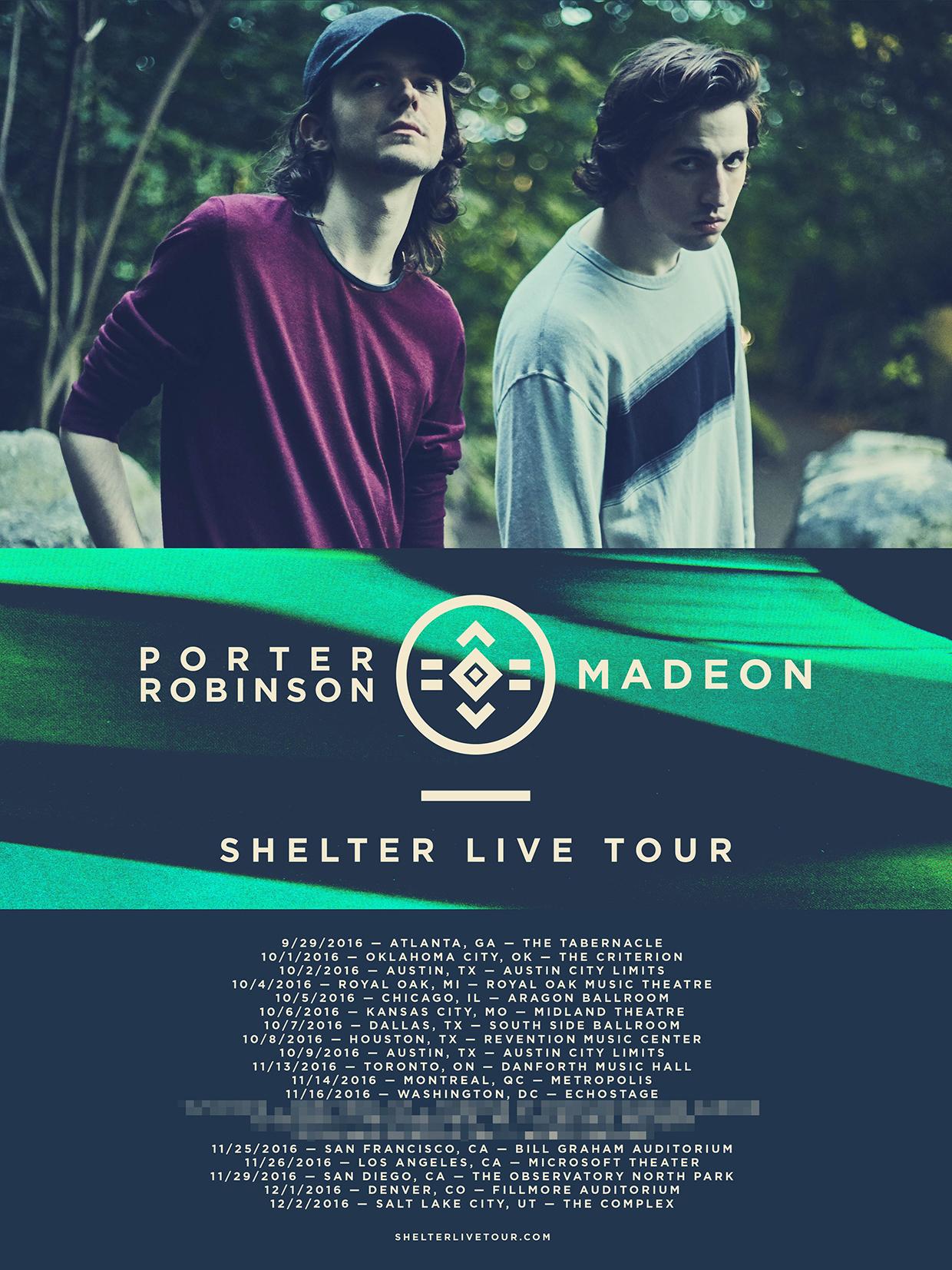 Porter Robinson & Madeon Announce 'Shelter' Fall 2016 LIVE Back 2 Back Tour