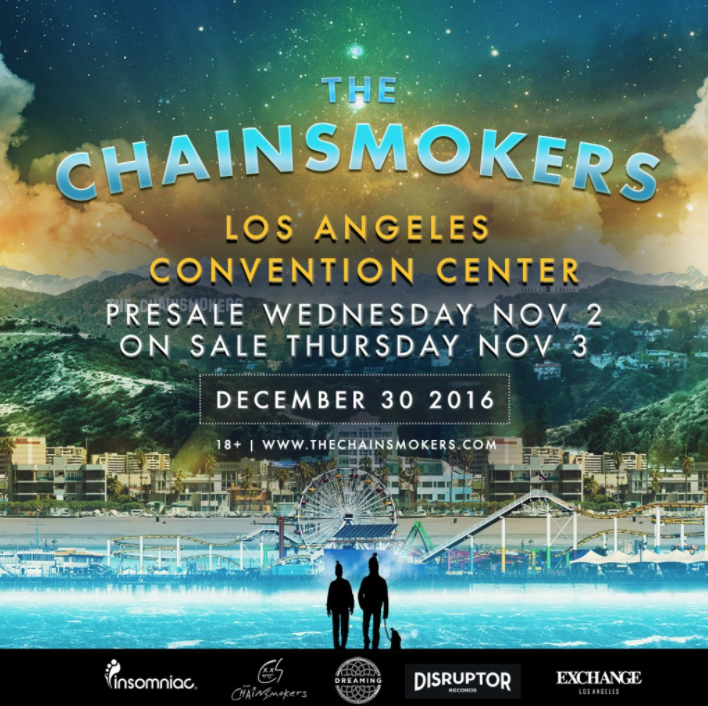 The Chainsmokers Announce Los Angeles Convention Center Show - EDMTunes